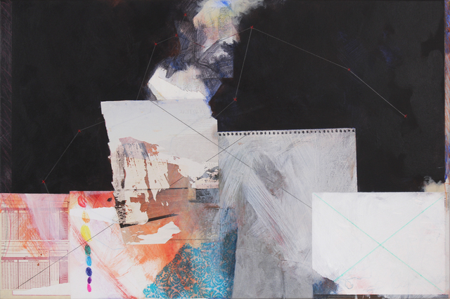Edward Holland, 'The Water-bearer Version 6', 2017, Painting, Acrylic, colored pencil and graphite on canvas with collage, Adah Rose Gallery