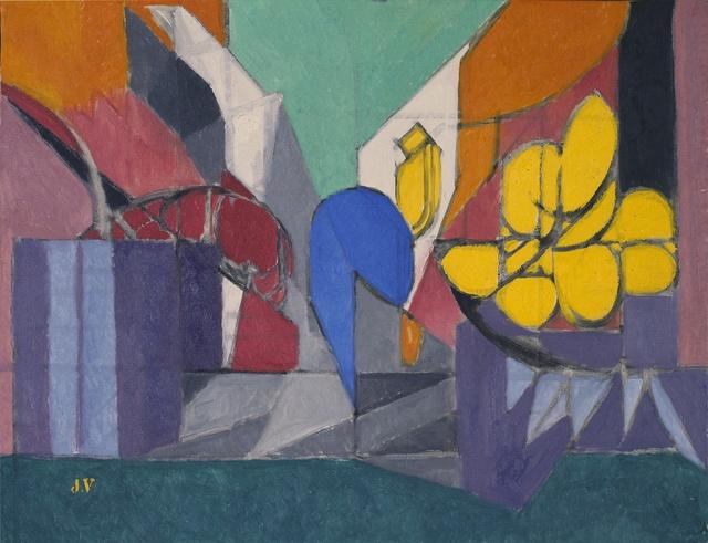 Jacques Villon, 'Nature morte aux fleurs jaunes', 1956, Painting, Oil on canvas, Jody Klotz Fine Art