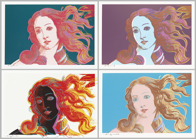 Andy Warhol, 'Details of Renaissance Paintings (Sandro Botticelli, Birth of Venus) Portfolio (F&S.II.316-319)', 1984, Print, Complete Suite of Four Screenprints on Arches Aquarelle (Cold Pressed) paper, Robin Rile Fine Art