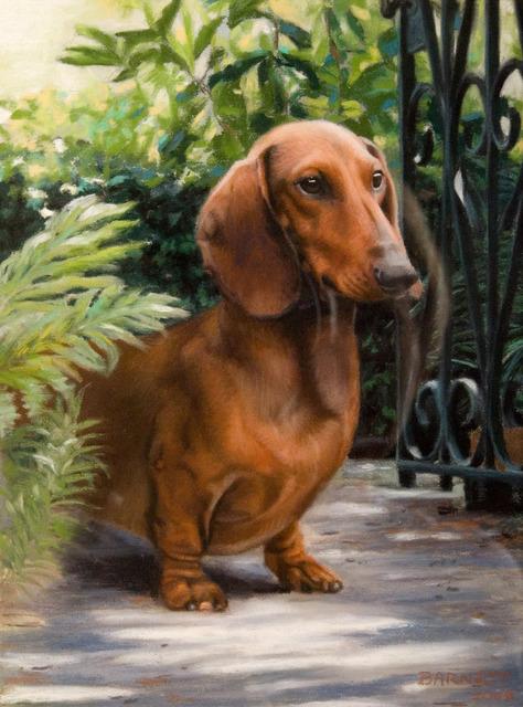 , 'RED Dachshund,' 2006, Dog & Horse Fine Art