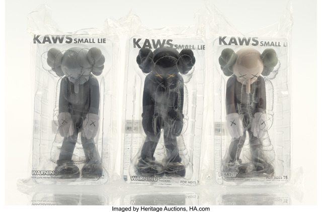 KAWS, 'Small Lie (three works)', 2017, Other, Painted cast vinyl, each, Heritage Auctions