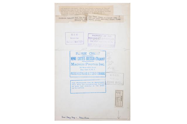Henri Cartier-Bresson, 'China & Hong Kong', 1949, Chiswick Auctions