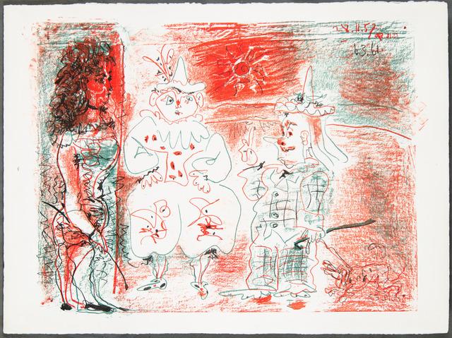 Pablo Picasso, 'L'ECUYÈRE ET LES CLOWNS (The Horsewoman and the Clowns)', 1961, Christopher-Clark Fine Art