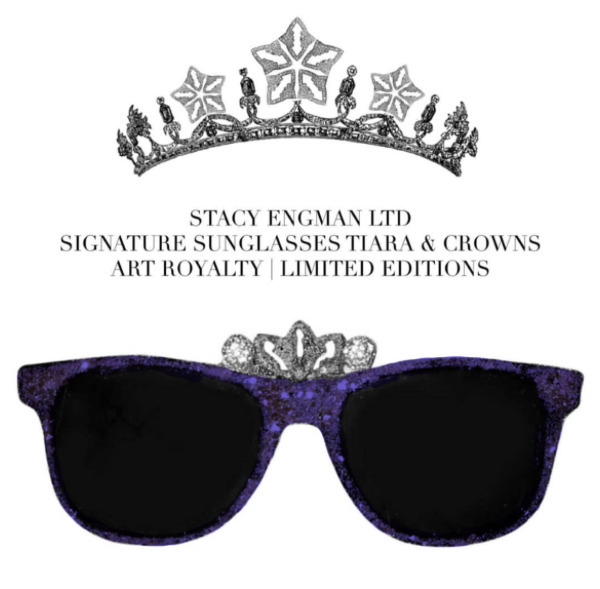 , 'Sunglasses-Crown Amethyst&Diamond Dust .50 CT Diamond Dust (diadem), 3 CT Amethyst Dust,' , ART CAPSUL