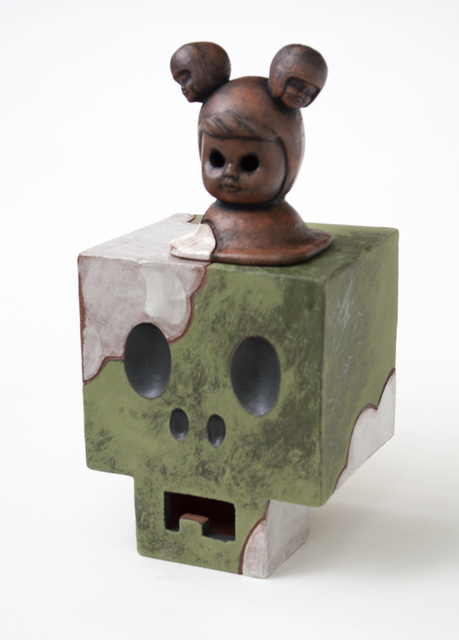 , 'Green Cloudy CubiSkull,' 2017, LeMieux Galleries