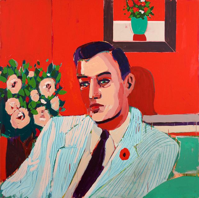 , 'Man, Flower & Frame,' 2017, Wally Workman Gallery