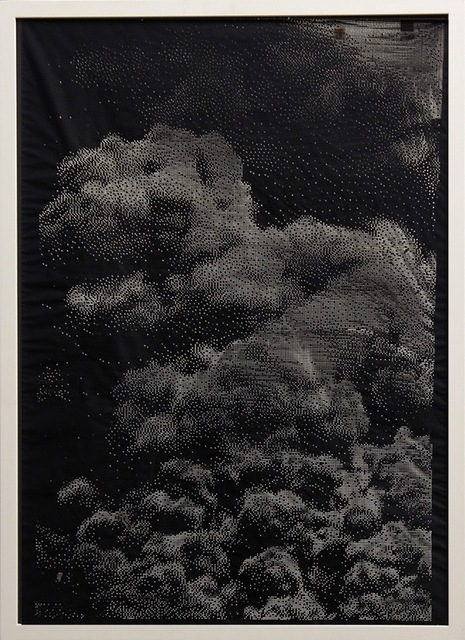 Michael Sebastian Haas, 'Burning Light ', 2019, Mixed Media, Laser engraving on canvas, Quantum Gallery