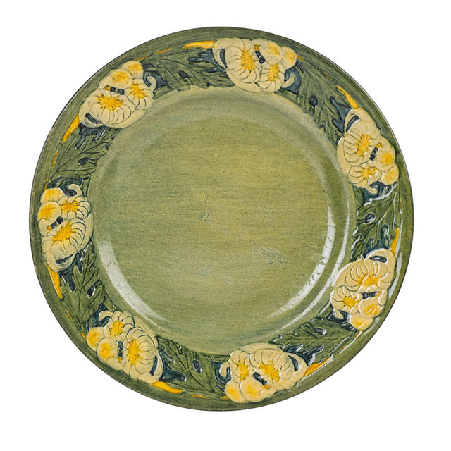 Anna Frances Simpson, 'Early Plate With Chrysanthemums, New Orleans, LA', 1913, Design/Decorative Art, Rago/Wright