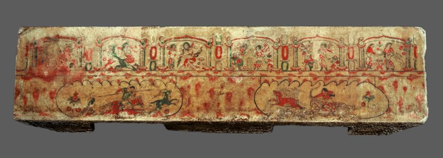 , 'Painted Tomb Panel from the Sarcophagus of Yu Hong's tomb,' 592, China Institute Gallery