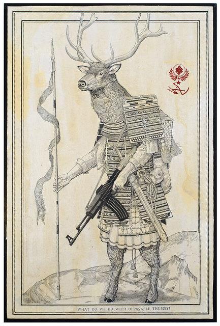 ", 'Opposable Thumbs ""Bull Elk"",' 2016, Black Book Gallery"