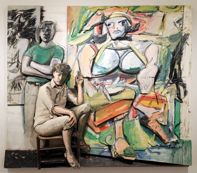 , 'Bill and Elaine de Kooning and 'Woman I',' 1997, Tibor de Nagy
