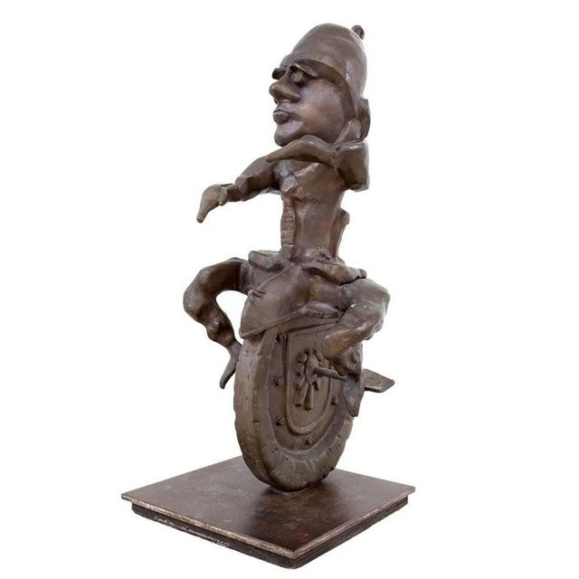 , 'Whimsical Heavy Large Modernist Bronze Unicycle Sculpture,' 20th Century, Lions Gallery