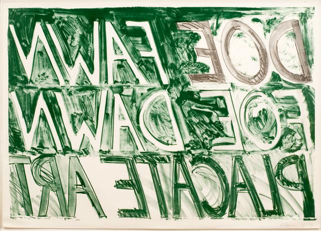 Bruce Nauman, 'Doe Fawn', 1973, Upsilon Gallery