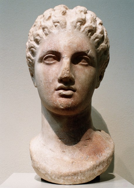 Unknown Greek, 'Marble head of a goddess', 4th century B.C., The Metropolitan Museum of Art