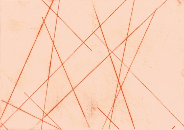 , 'orange linien blatt VIII,' 2015, Edition & Galerie Hoffmann
