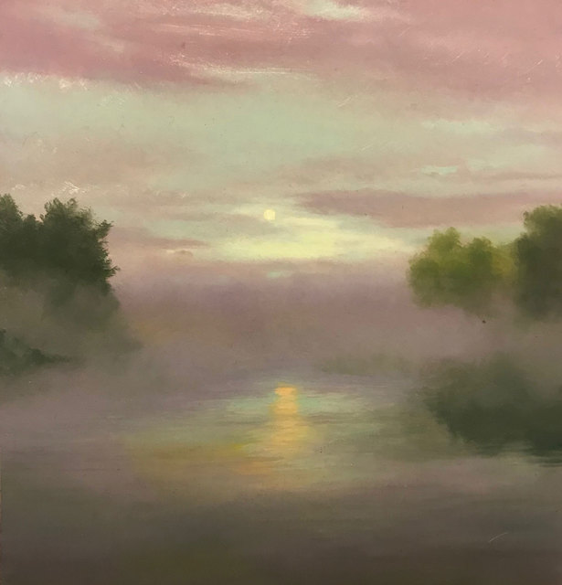 , 'Moonrise Over the River,' , William Baczek Fine Arts