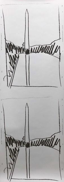 Andy Warhol, 'Washington Monument', 1974, Print, Screenprint on wallpaper, DANE FINE ART