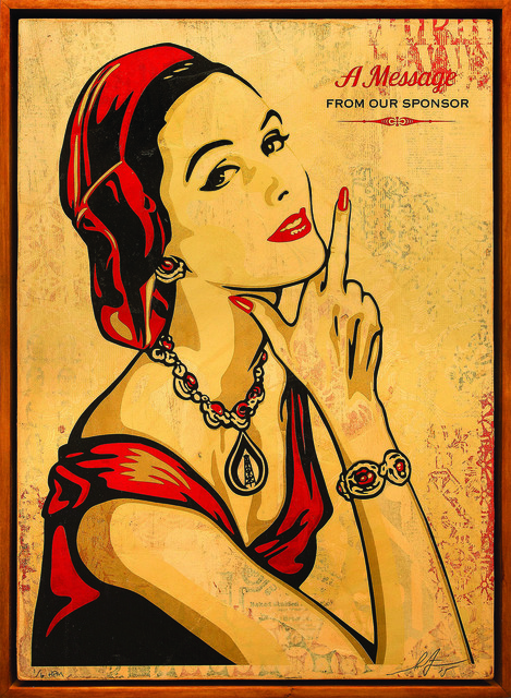 Shepard Fairey (OBEY), 'A Message From Our Sponsor', 2015, Underdogs Gallery