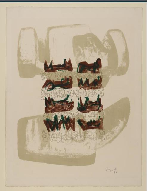 Henry Moore, '8 Reclining Figures on Rock Background', 1963, Hidden