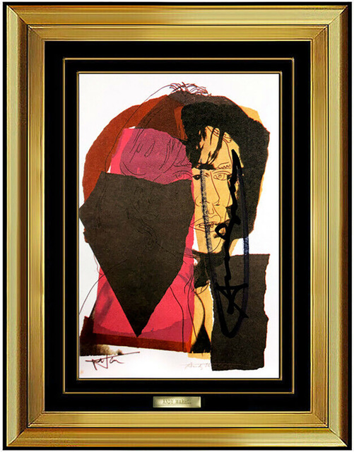 Signed Mick Jagger Portrait by Andy Warhol