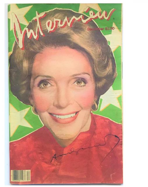"Andy Warhol, ' ""Nancy Reagan"", 1981, SIGNED, INTERVIEW Magazine.', 1981, VINCE fine arts/ephemera"