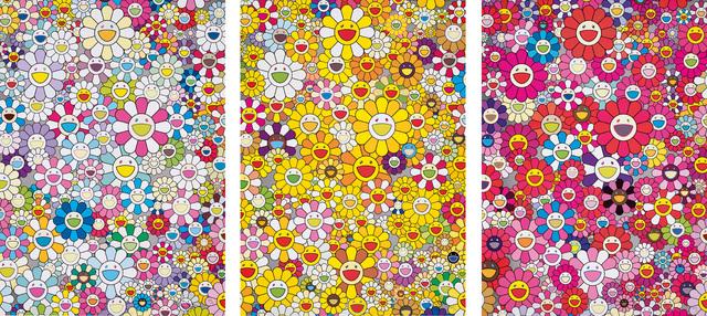 Takashi Murakami, 'An Homage to Yves Klein, Multicolor C; An Homage to Monogold 1960 A; and An Homage to Monopink 1960 C', 2012, Phillips