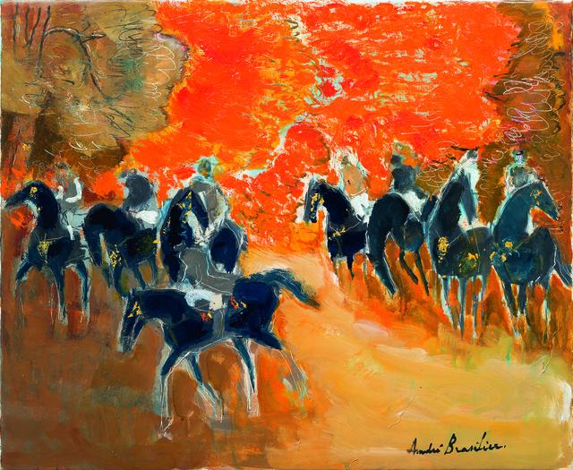 , 'Huit cavaliers en automne,' 2018, Opera Gallery