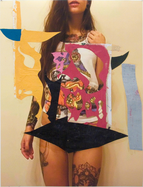 Enoc Perez, 'Untitled ', 2014, Drawing, Collage or other Work on Paper, Oil, collage, and inkjet on paper, The Watermill Center Benefit Auction