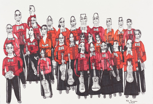 , 'Orchestra (Red Shirts),' 2017, Creativity Explored