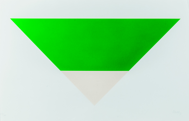 Ellsworth Kelly, 'Green/White', 1971-72, Skinner