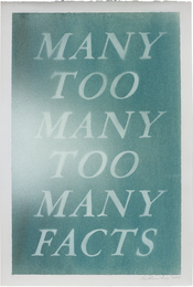 Ed Ruscha, 'Many Too Many Too Many Facts,' 2015, Phillips: 20th Century and Contemporary Art Day Sale (February 2017)