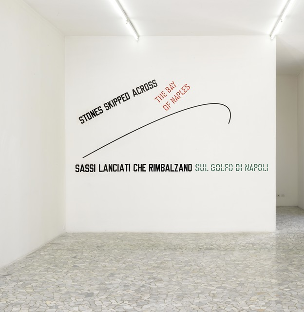 Lawrence Weiner, 'Stones skipped across the bay of naples', 2009, Alfonso Artiaco