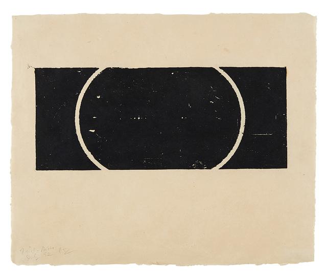 Donald Judd, 'Untitled', 1961/ 1993-94, Print, Woodcut printed in black on frostlite vellum paper, Carolina Nitsch Contemporary Art