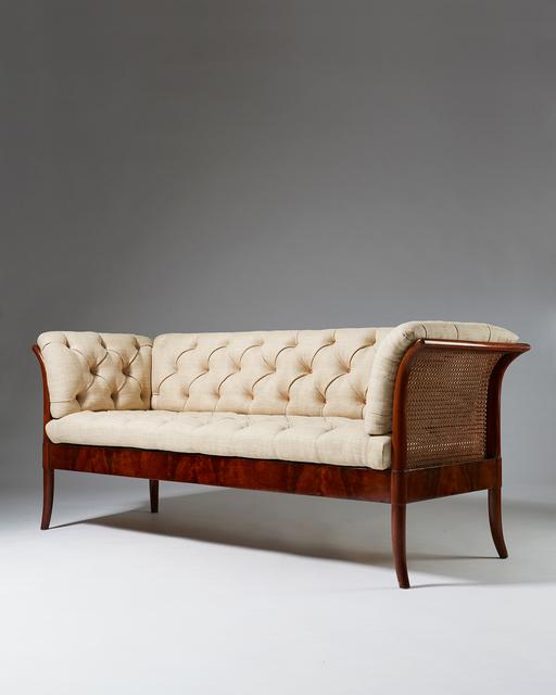 , 'Mahogany, cane, leather, and fabric. ,' 1920-1929, Modernity