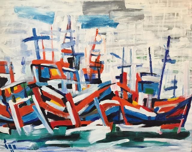 Tran Luu Hau, 'Catba Boat in the River ', 2011, Artist's Proof
