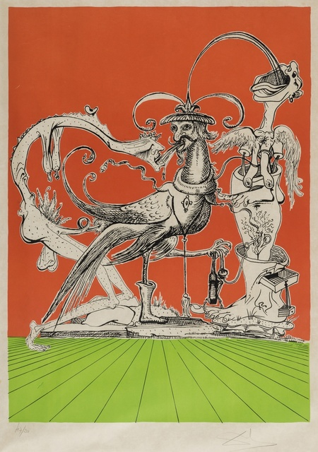 Salvador Dalí, 'A plate, from Les Songes drolatiques de Pantagruel (Field 73-7-H; M&L 1418a)', 1973, Forum Auctions