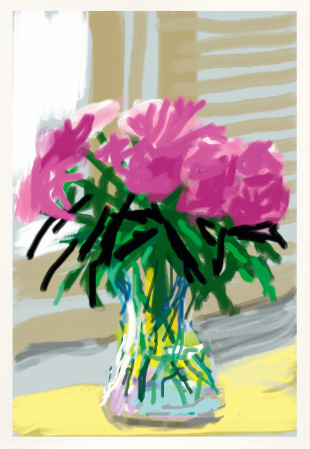 David Hockney, 'Peonies iPhone Drawing', 2009, Oliver Clatworthy