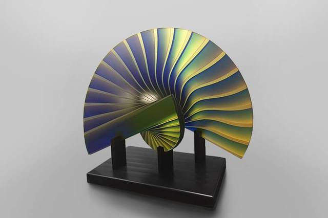 Laszlo Lukacsi, 'The Peacock', 2016, Sculpture, Polished layered glass, Avran Fine Art