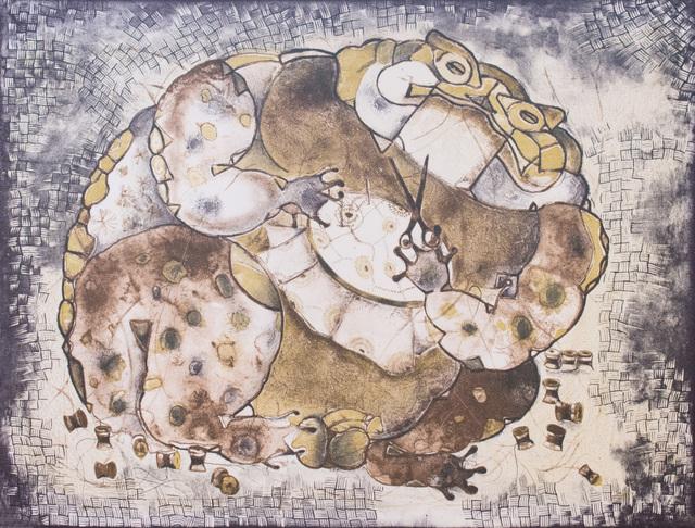 """, '""""El Sapo Que Se Enredó En Sus Hilos"""",' 1991, Galería Nudo"""