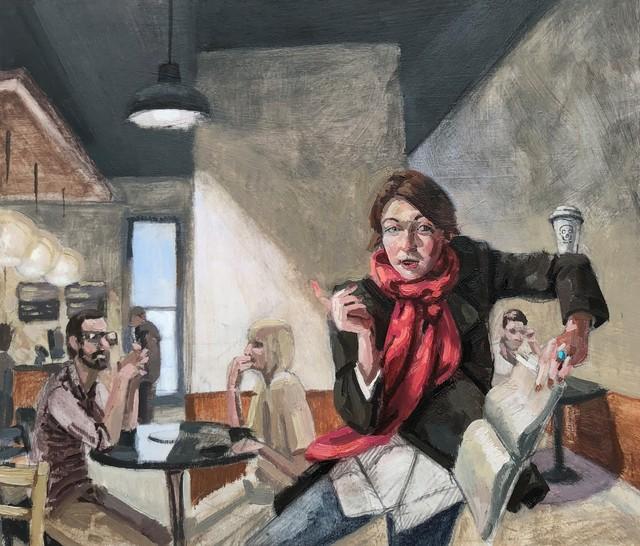 Benjamin Duke, 'Books and Coffee', 2018, Gallery Victor Armendariz