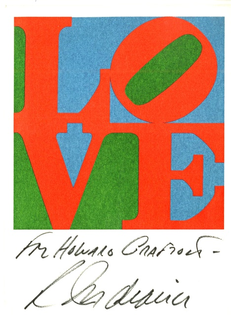 Robert Indiana, 'Rare Vintage Love Card (Hand Signed and Inscribed)', 1979, Alpha 137 Gallery
