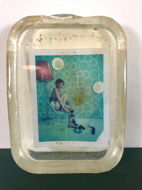 Carmen de Vos, 'Pipi Langoureuse  - Unique piece - Original Polaroid, Women, Contemporary, Blue', 2012, Instantdreams