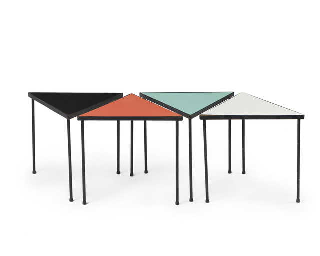 'A set of Frederic Weinberg Formica nesting tables', John Moran Auctioneers