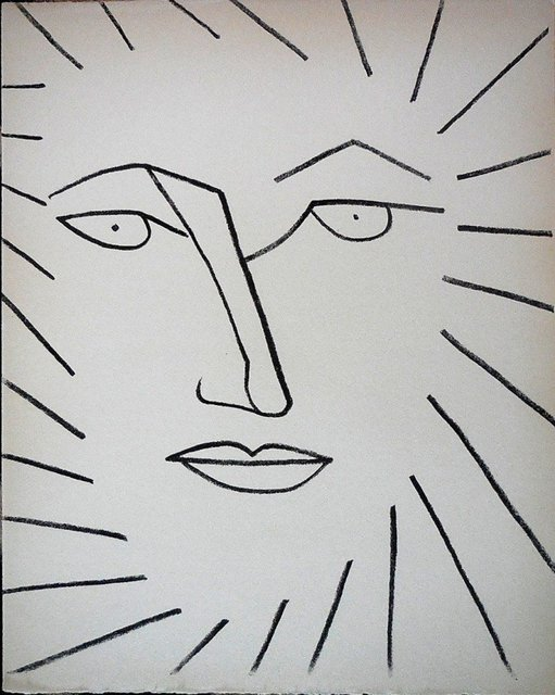 Françoise Gilot, 'Portrait head of a Woman Lithograph', 1950-1959, Lions Gallery