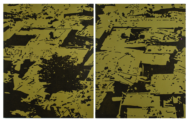 , 'Ghetto Roofs (Diptych) ,' 2014, MOVART
