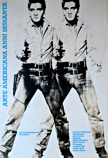 Andy Warhol, 'Arte Americana Anni Sessanta (Double Elvis)', 1987, Ephemera or Merchandise, Silkscreen Poster on thin canvas linen backing. Unframed, Alpha 137 Gallery