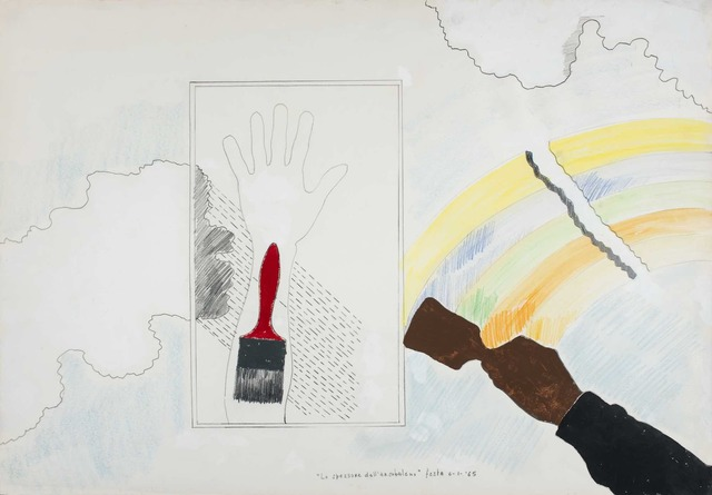 Tano Festa, 'Lo spessore dell'arcobaleno', 1965, Galleria il Ponte
