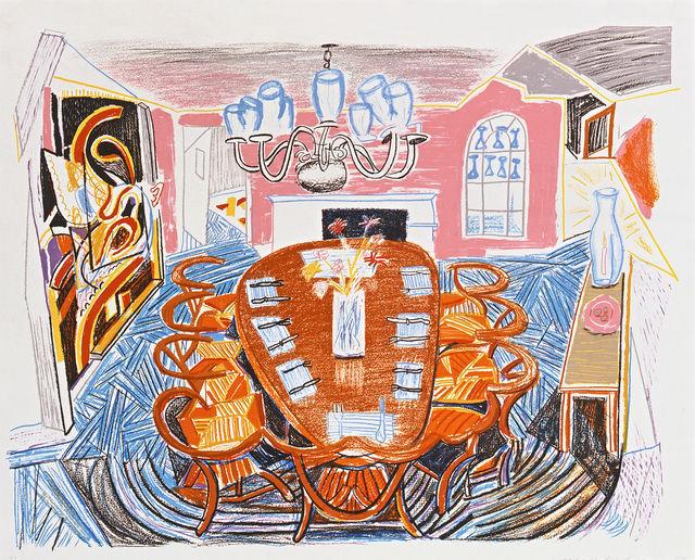 David Hockney, 'Tyler Dining Room', 1984, Vertu Fine Art