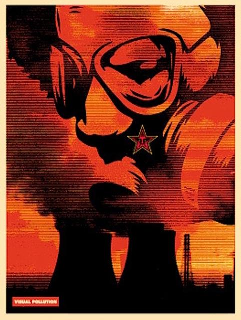 Shepard Fairey (OBEY), 'Visual Pollution Gas Mask', 2001, Gregg Shienbaum Fine Art