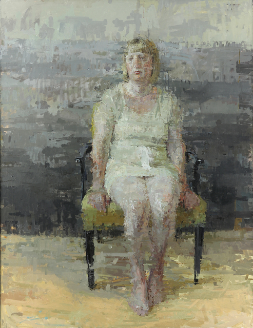 Ann Gale, 'Jennifer with Cream Dress', 2012, Painting, Oil on panel, Dolby Chadwick Gallery